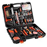 100-Piece Home Tool Kits Multi-functional & Universal 100 IN 1 Precision Screwdriver Hammer Set Repair Tool Kit for Household Electronics Test Repair Maintenance (100-Piece)