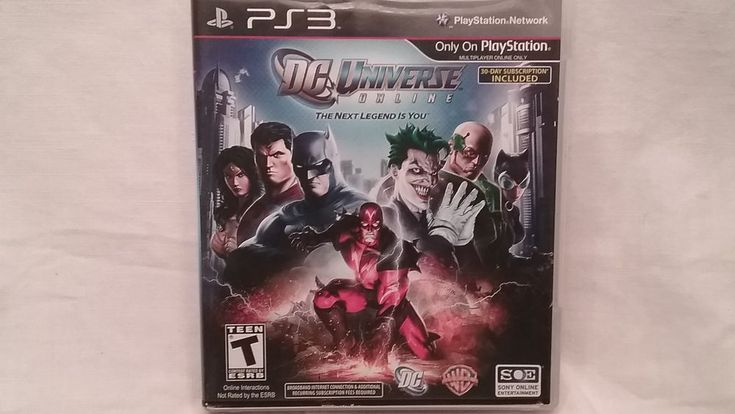 ps3 DC universe online playstation 3