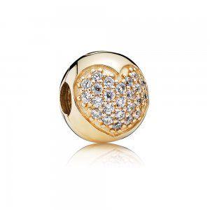 Złote serce Pavé Charms - Pandora PL  Promocja: 149.98zł  kup teraz: http://www.pandorabiżuteria.com/srebrna-bransoletka-cena.html