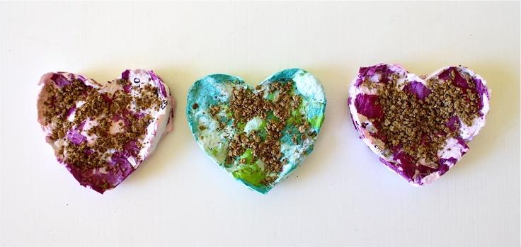 DIY shredded paper Seed Starters   MADEHello Spring, Paper Seeds, Paper Flower, Paper Heart, Seeds Starters, Diy Shredded, Kids Crafts, Gardens, Shredded Paper