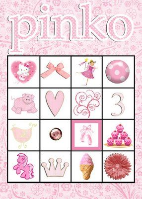 Considering a Pinkalicious Party for Hailey's 4th Birthday.  Thought this version of Bingo might be fun.