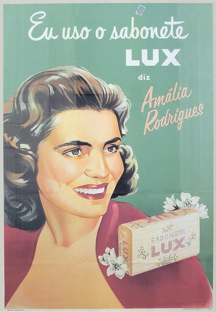 Lux soap 1953, with Amalia Rodrigues, Ad