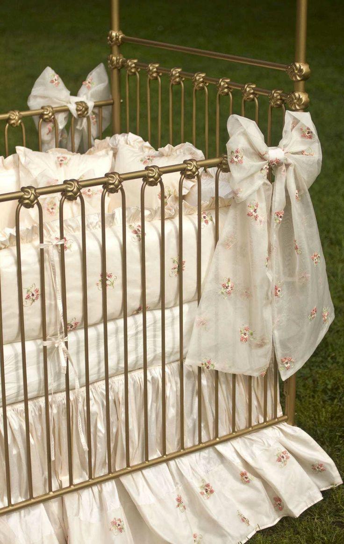 Vintage white crib for sale - Umbria Vintage Baby Crib Linens