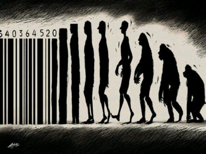 The evolution. No purpose in life everything is a commodity , the value of human life is lost, we are too into ourselves