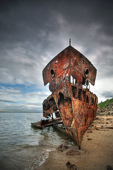 Ghost Ship by Annette Blattman, near Redcliffe, Queensland Australia