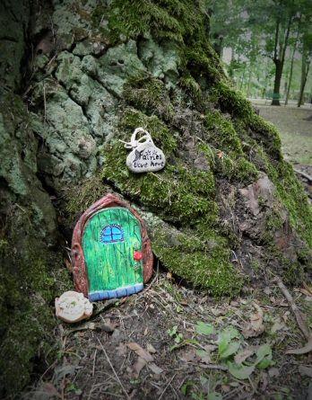 Dekoracja ogrodu, doniczki, pokoju. Bajkowe drzwi dla elfa, wróżki.