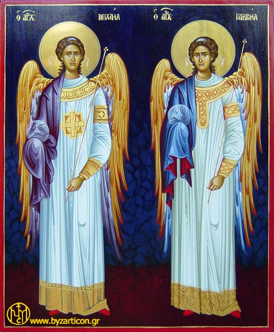 The archangels, Michael and Gabriel