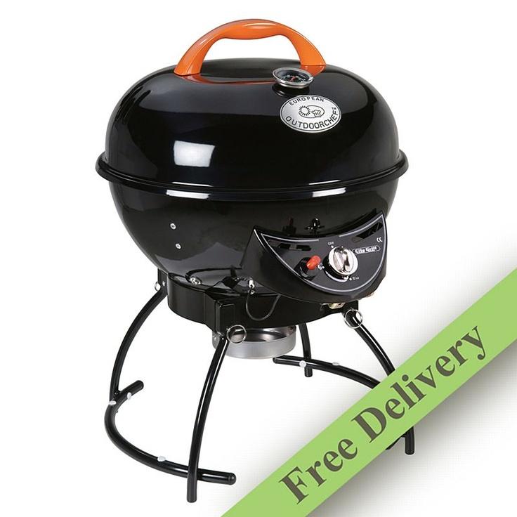 City Gas Kettle BBQ - Black