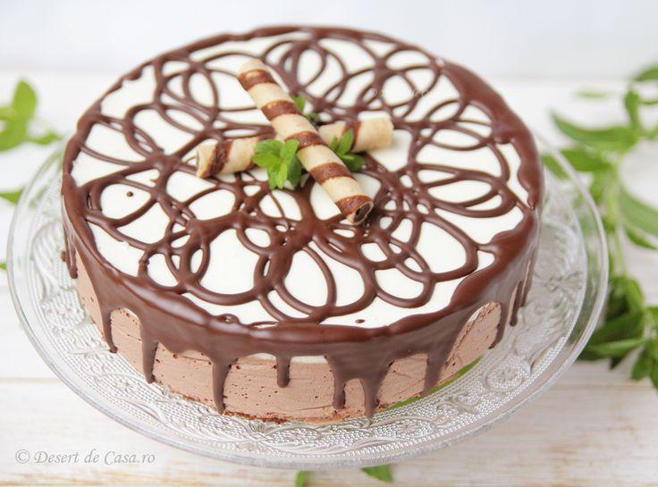 Tort cu mousse de ciocolata - Desert De Casa - Mara Popa
