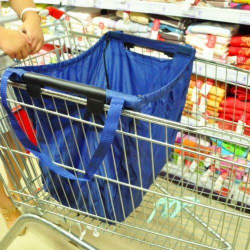Reusable-Durable-Eco-Bag-Shopping-Cart-tote-hooks-on-cart-use-handles-to-carry