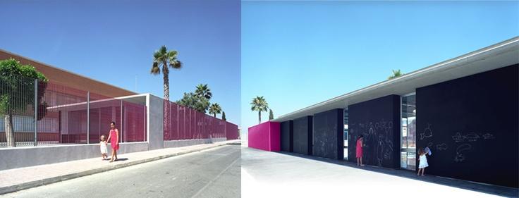 Comedor Escolar en el Colegio Virgen del Carmen de Torrevieja, Alicante - Archkids. Arquitectura para niños. Architecture for kids. Architecture for children.