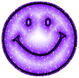 Funny Purple Things | Purple Glitter Smiley Face MySpace Glitter Graphic Comment