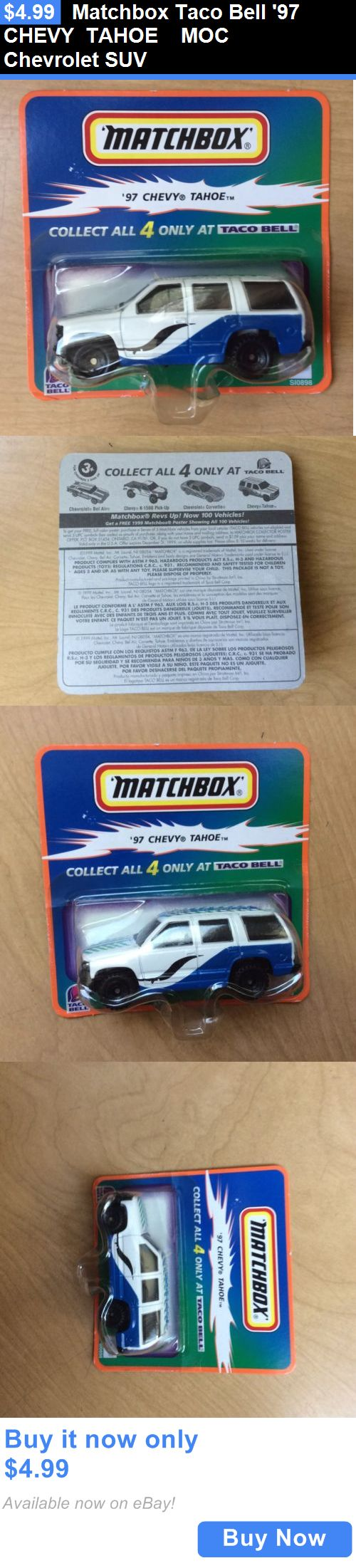 SUVs: Matchbox Taco Bell 97 Chevy Tahoe Moc Chevrolet Suv BUY IT NOW ONLY: $4.99