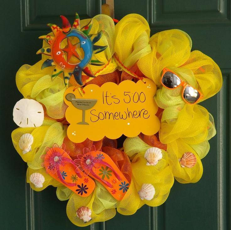 Margaritaville Wreath another pinner made for a huge Jimmy Buffett Fan