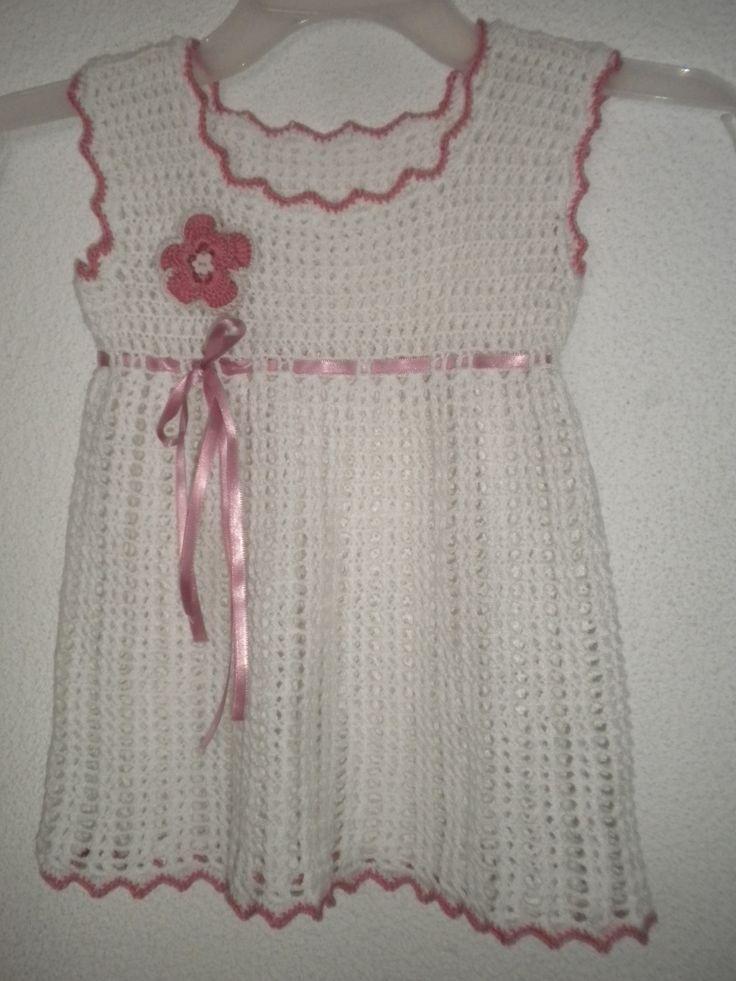vestido para niña a crochet