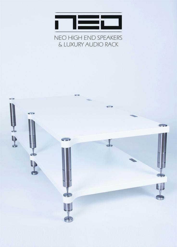 Audio rack NEO Double Quattron #neohighend #alpha #tripod #doubletripod #quattron #highendspeakers #luxuryaudiorack #accuton