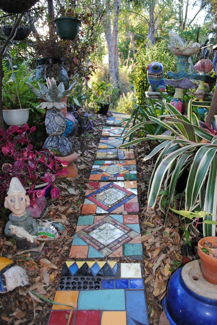 286 best mosaic walkways, stairs and walls images on pinterest