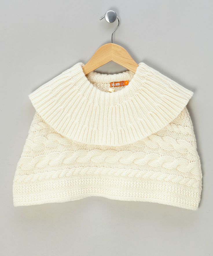 Cream Cable Knit Poncho £12.99