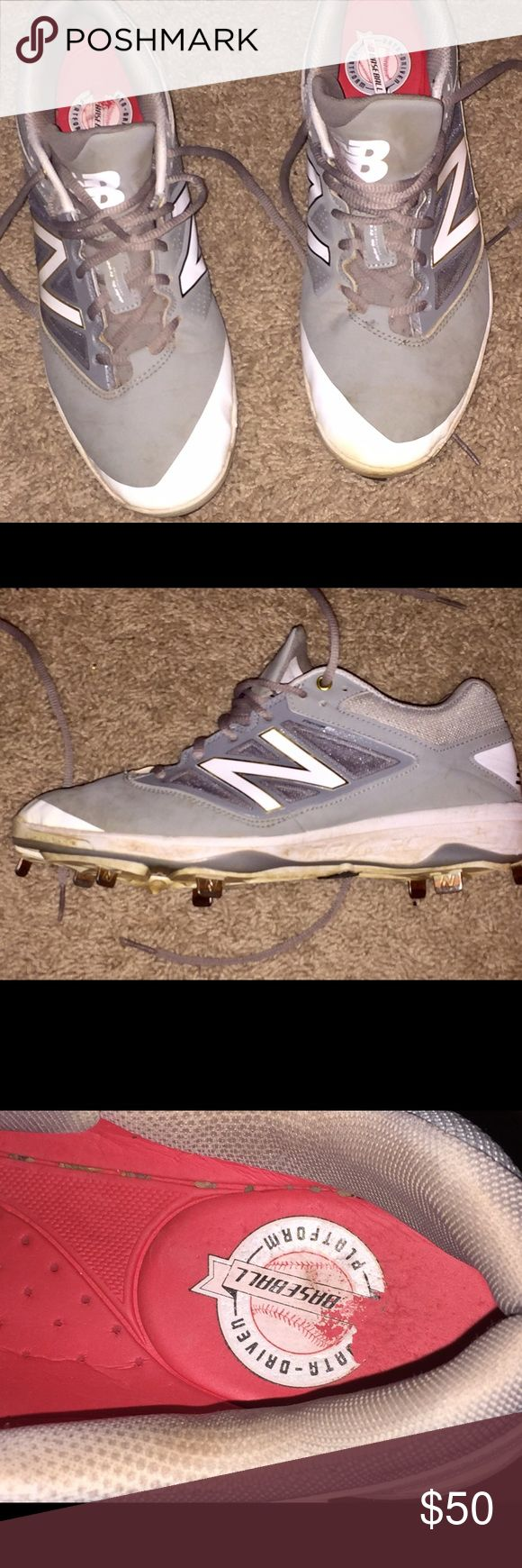 New Balance metal baseball cleats size 10 New Balance metal baseball cleats size 10. Worn for one city league season, still in excellent condition. My son says they're the most comfortable cleats he's ever worn. Original price was over $100 New Balance Shoes Athletic Shoes