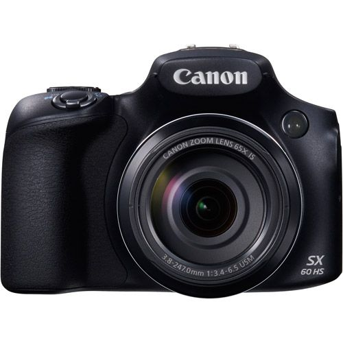 Canon Black PowerShot SX60 HS Digital Camera with 16.1 Megapixels and 65x Optical Zoom