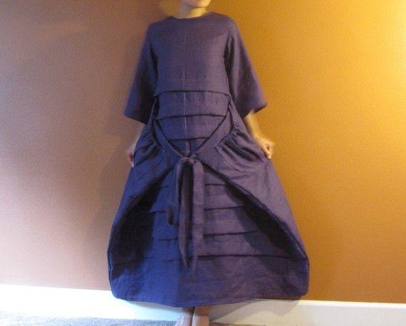 pleats on linen