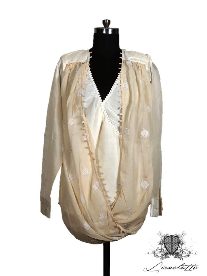 Silk & Georgette Shirt Chikankari #Silk #Shirts #WomensClothing #Chikankari  #Lisaelotte