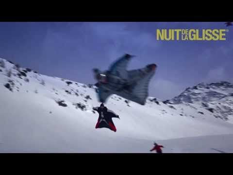 ▶ IMAGINE: first ever wingsuit flying above skiers - YouTube