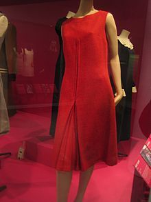 A 1960 Mary Quant dress, on display at the Victoria & Albert Museum, London