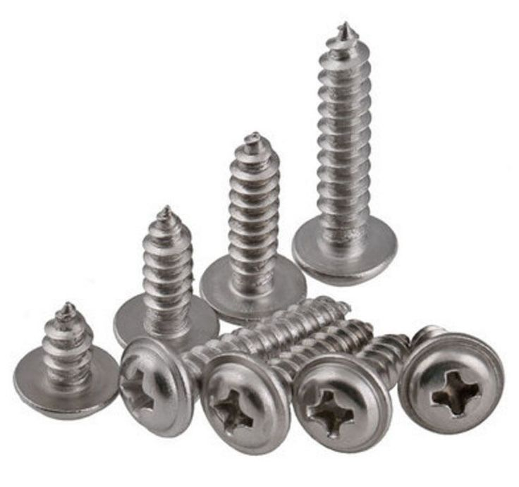 (50) M2 M2.3 M2.6 M3 M4 Phillips Pan Washer Head Self Taping Wood Screws A2 SS