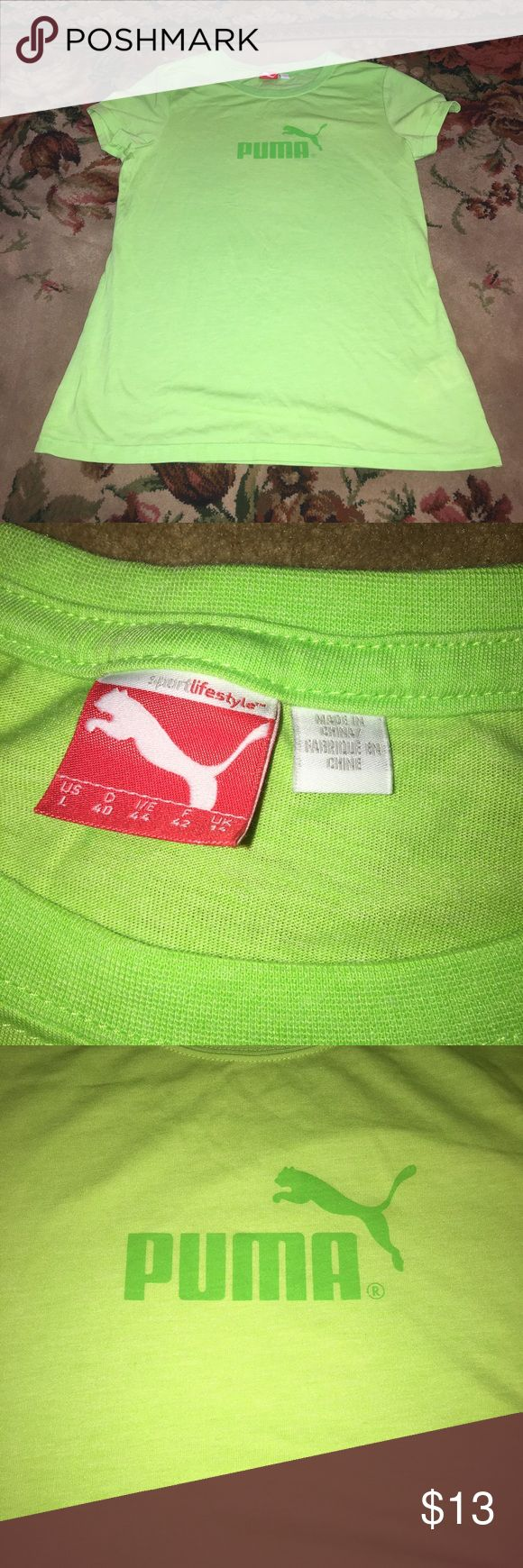 Like new green Puma shirt size large! Comes from a smoke free home! It is in like new condition! Shirt is a size large! Puma Tops Tees - Short Sleeve