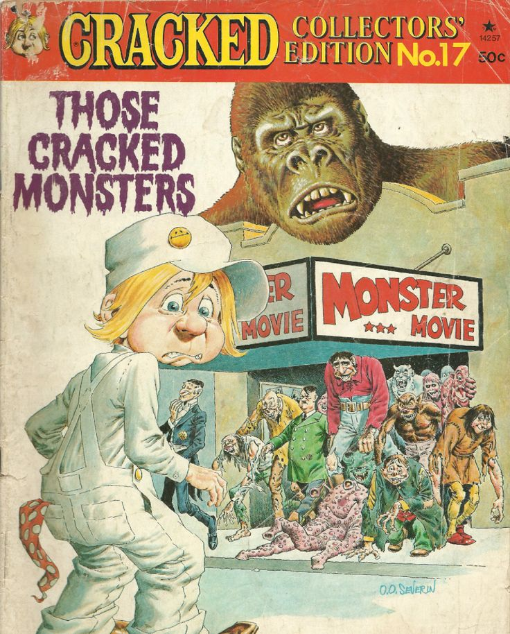 1977 CRACKED MAGAZINE COLLECTORS EDITION NO. 17, MONSTER EDITION!