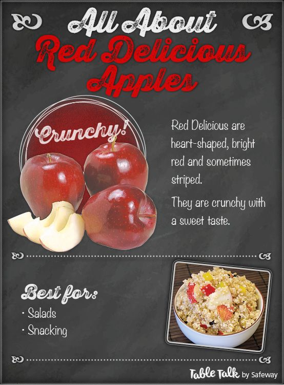 All About Red Delicious Apples!