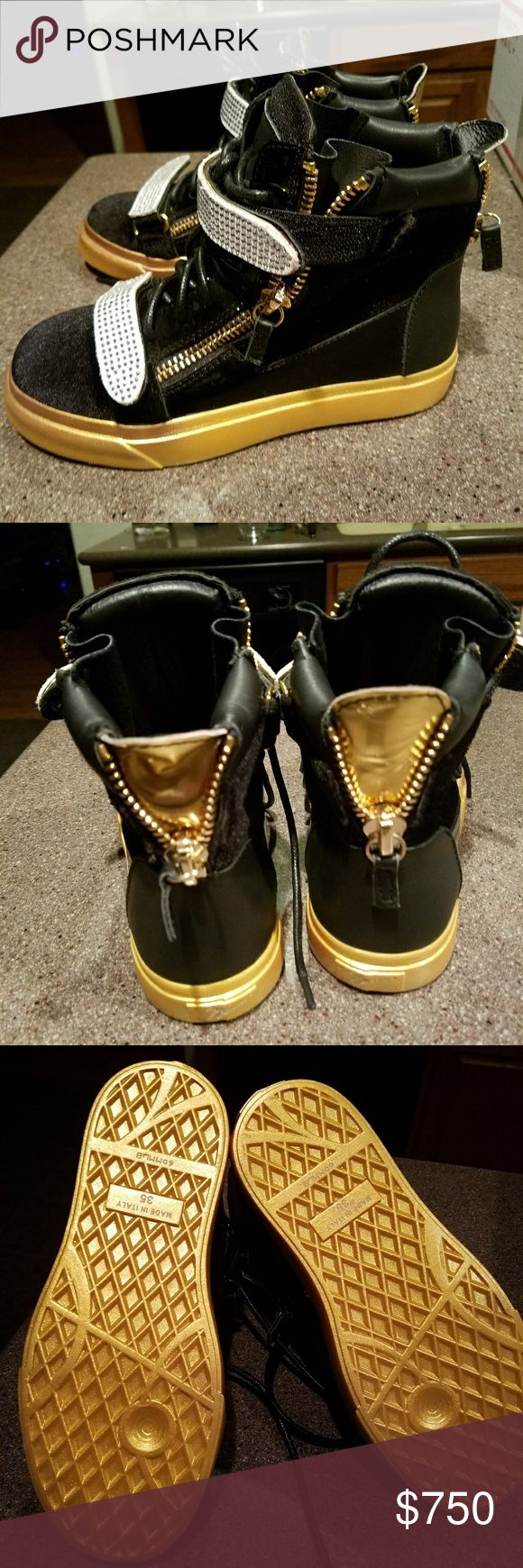 Giuseppe zonatti sneakers NEW WITHOUT BOX High top suede and leather,Italian made.Rare color ,WILL consider trade for bag set of equal value not trade value Giuseppe Zanotti Shoes Athletic Shoes