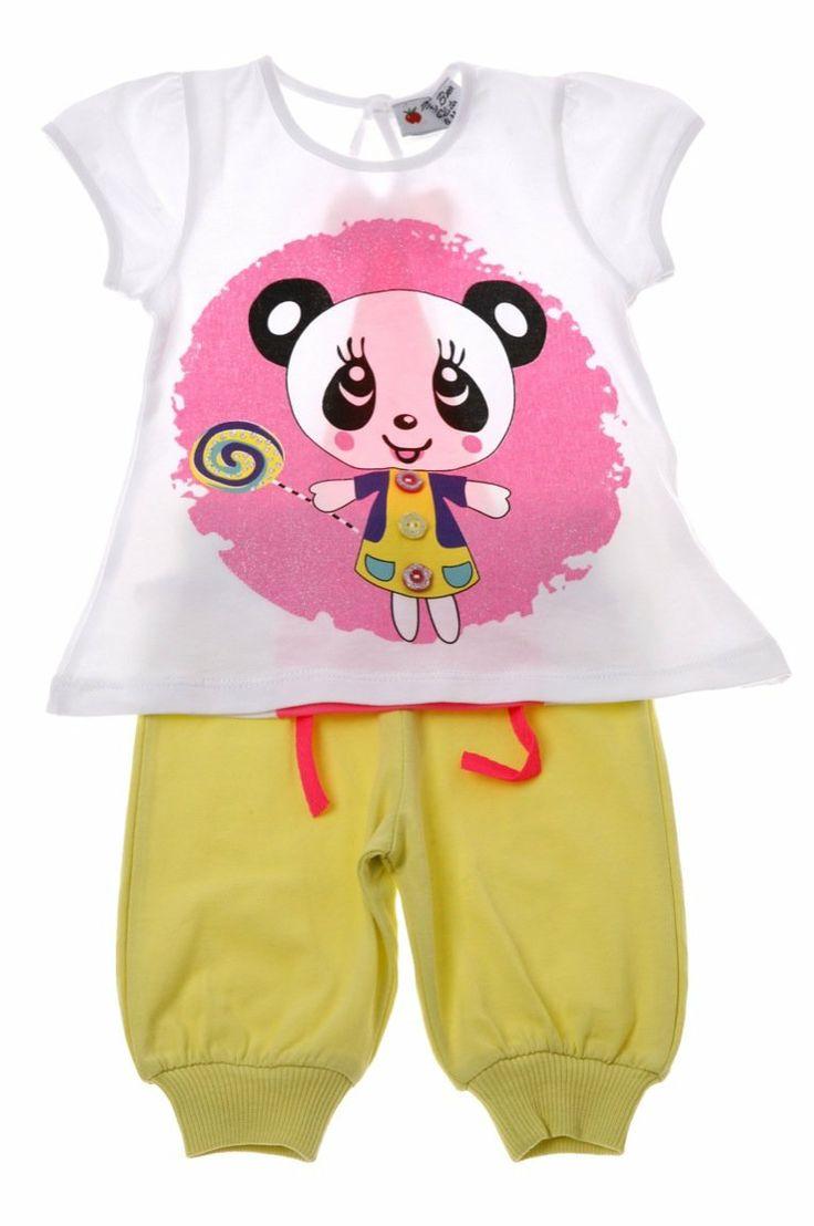 Εβίτα βρεφικό σετ μπλούζα-παντελόνι σαλβάρι «Panda»  €13,00