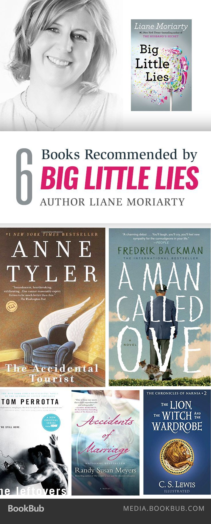 Liane Moriarty, author of Big Little Lies, recommends these 6 captivating books.
