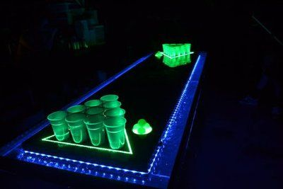 HELLO! genius... light up beer pong table