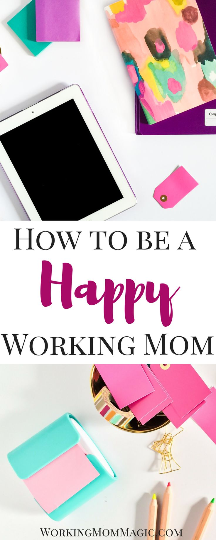 While working moms may be becoming more common, that doesn't mean it is getting easier. Mom guilt is very real. However, after nearly 9 years of being a working mom, I do have some tips to help you hold onto your happy!