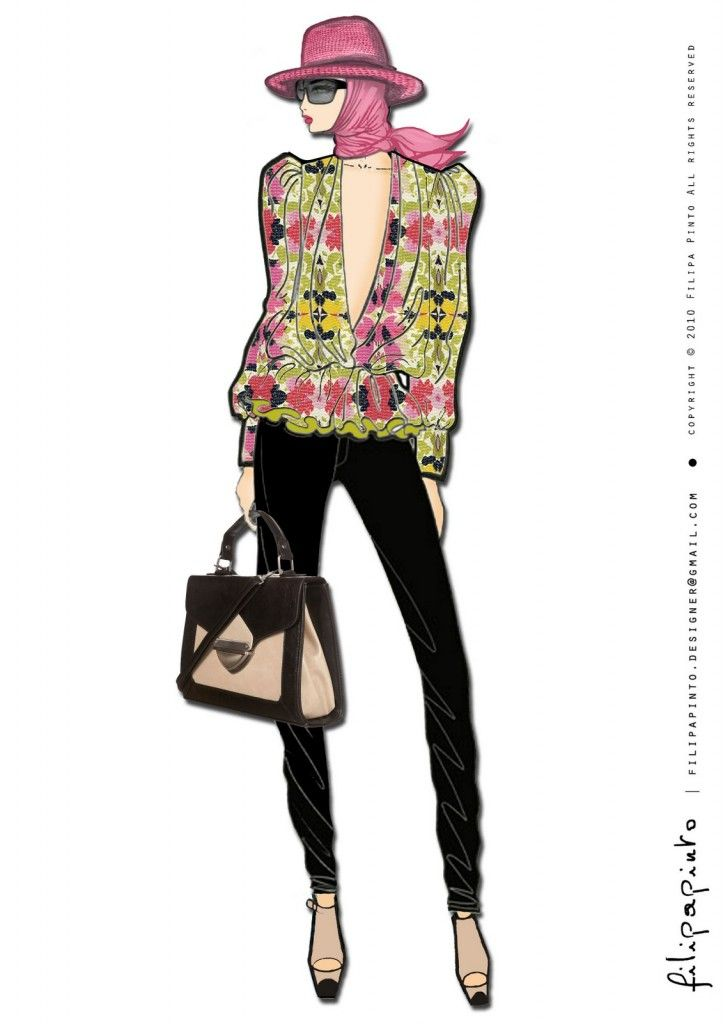 ilustracoes calendario 2011 filipa pinto imagens 723x1024 Designer de moda portuguesa Filipa Pinto