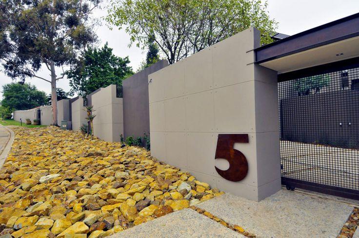 modern concrete fence design - Google Search