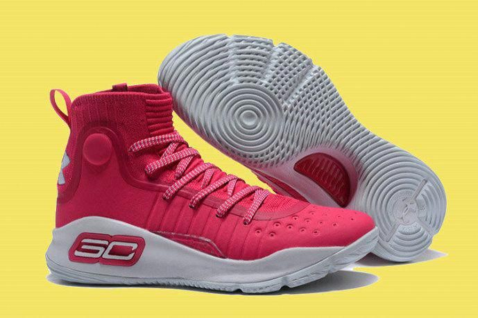 new styles 49366 869e5 Under Armour Stephen Curry 4 Pink White Basketball Shoe For Sale Big Boys  Youth Jeunesse Shoes  basketballshoes