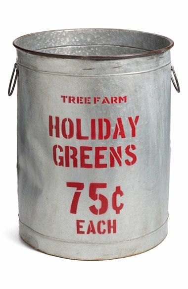 CREATIVE CO-OP 'Holiday Greens' Distressed Bucket available at #Nordstrom