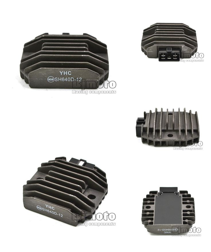 [Visit to Buy] BJMOTO Black Motorcycle Metal Voltage Regulator Rectifier For Yamaha YZF R1 1999-2001 YZF R6 1997-2002 #Advertisement