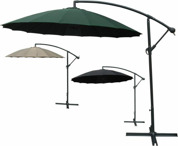Outdoor 2.7M Freestanding Cantilever Banana Overhanging Parasol Garden 3 Colours