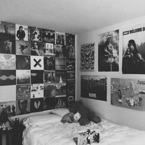 This could so be my bedroom! I have a lot of these posters!