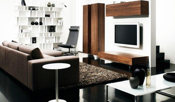 Furniture, Elegant Moden Minimalist Brown Sofa Contemporary Living Room Furniture: Modern Contemporary Furniture Design Ideas for Elegant Living Room