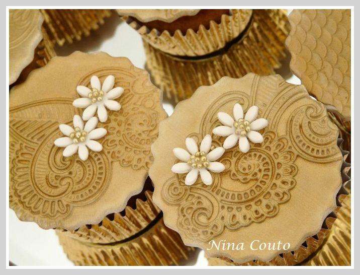 cupcakes dorés mariage nimes 1