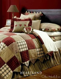 Country patchwork quilt