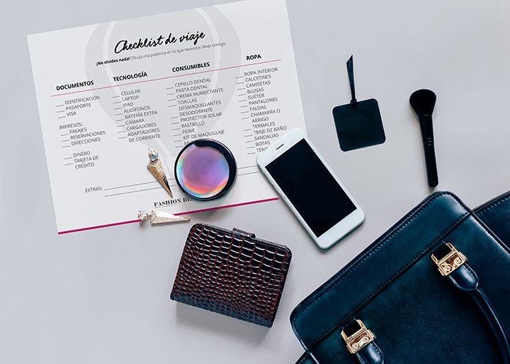 Gratis: Checklist descargable para que no olvides nada en tu próximo viaje