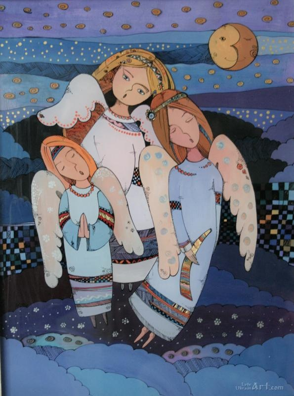 "Buy painting ""Three Angels"" Kuriy-Maksymiv Natalia. Delivery in Ukraine"