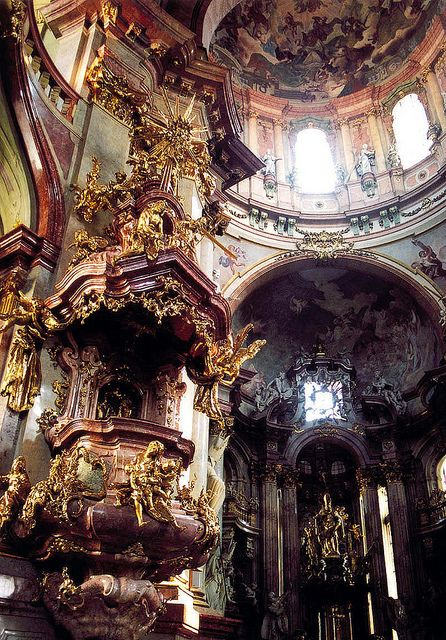 St. Nicholas Cathedral interior by Peter Gutierrez    Quintessential Baroque architecture in the heart of Prague.